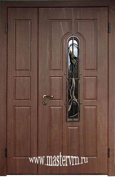 стальные двустворчатые двери на заказ
